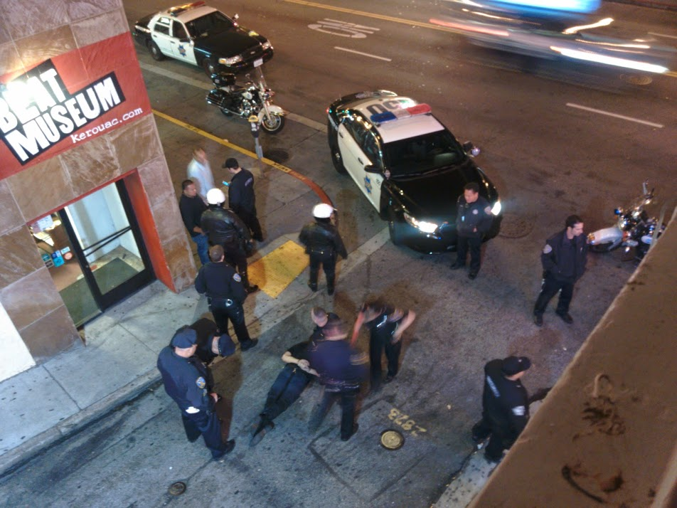 North Beach Cops taking down some drunks