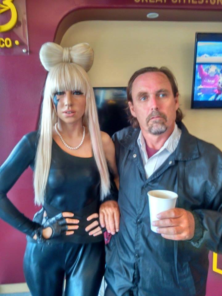 Gaga and I on a date
