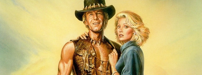 A cropped image from the Crocodile Dundee movie poster
