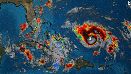 storm map; overview of the hurricane